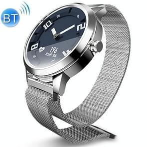Lenovo Watch X 316L roestvrijstalen waterdichte Bluetooth 5.0 Smart Watch met Milanese band  ondersteuning hartslagsensor / slaapmonitor / gebarenfoto (zilver)