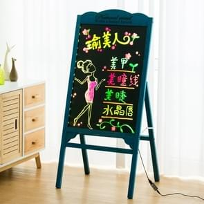 LED Billboard display stand elektronische handschrift fluorescerende Board Blackboard (blauw)