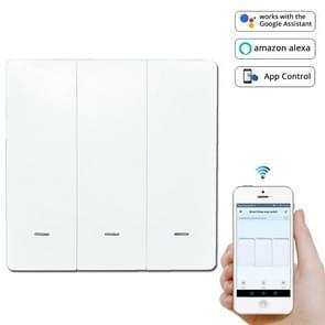 3 knoppen intelligent Switch Smart Wall switch (wit)