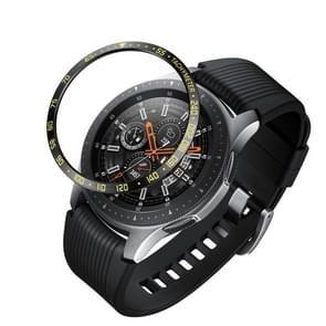 Dial stalen beschermende frame voor Galaxy Watch 42mm (zwart goud)
