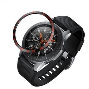 Dial stalen beschermende frame voor Galaxy Watch 46mm (zwart rood)