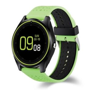 V9 Can Insert TF Card Watch Phone, 240*240 Pixel, 1.22 inch HD Full Circle Display Screen, Silicone Watchband,  Smart Watch Phone, Support Network: 2G, TF Card / MP3 / Music Play / Camera / Sedentary Reminder / Bluetooth(Green)