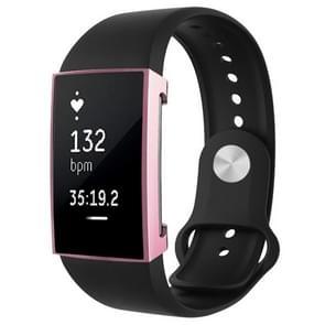 Voor Fitbit charge 2 volledige dekking plating TPU horloge case (roze)