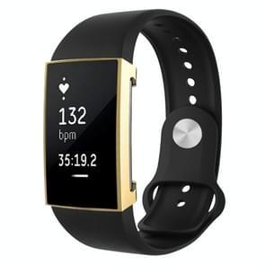 Voor Fitbit charge 2 volledige dekking plating TPU horloge case (goud)