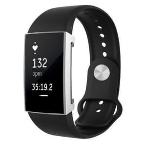 Voor Fitbit charge 2 volledige dekking plating TPU horloge case (zilver)