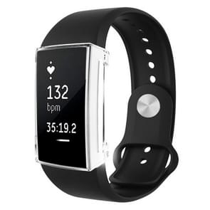 Voor Fitbit charge 2 volledige dekking plating TPU horloge case (transparant)