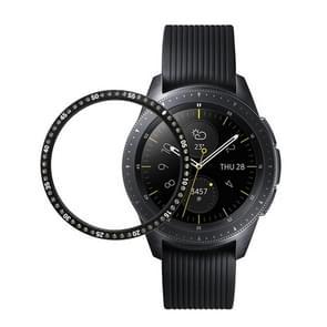 For Samsung Gear S3 Stainless Steel + Diamond Watch Case Steel Rim (Black)