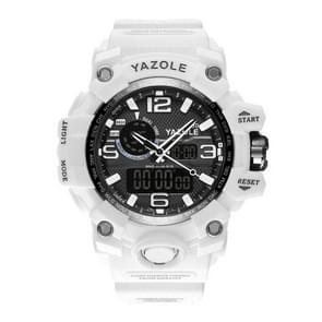 480 YAZOLE mannen mode Sport datum Display Silicon Band elektronische Quartz Wrist Watch(White)