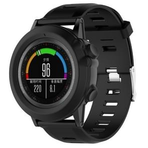 Slimme horloge silicone beschermhoes voor Garmin fenix 3 (zwart)