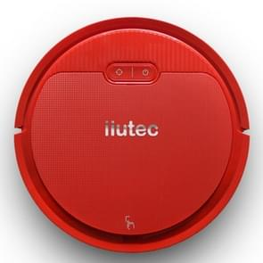 iiutec-V2 1200Pa Large Suction Self-rechargeable Smart Household Vacuum Cleaner Clean Robot, Support Phone APP Control(Red)