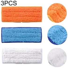 3 PCS Reusable Replacement Microfiber Mopping Cloth Wet Rag for irobot Braava jet240 / 241