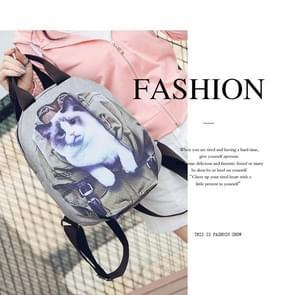 Fawn kitten 3D-effect Oxford doek schouders zak school tas reizen rugzak tas (kitten)