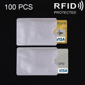 100 PCS Aluminum Foil Card Protective Cover Case RFID Blocking Safety Shield Identity Sleeves Cards Bag, Size: 9.1*6.3cm
