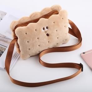 Cute Sandwich Biscuits Shape Plush Single-shoulder Bag