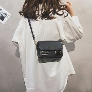 Fashion  PU Leather Small Square Handbag Ladies Shoulder Messenger Bag(Black)