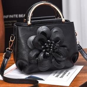 Vrijetijds mode PU Slant schoudertas Handbag(Black)