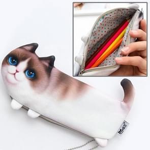 Marionet Cat Style versie van de simulatie drie-Legged kat draagbare briefpapier cosmetische zak  maat: 22x10.5cm
