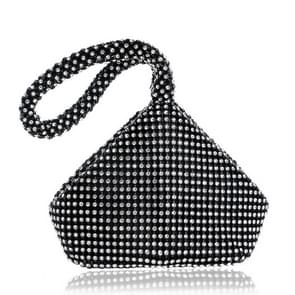 Women Fashion Banquet Party Diamond Handbag(Black)