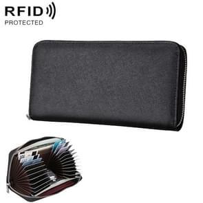 Antimagnetic RFID Genuine Leather Passport / Card Holder / Car Keys Package(Black)