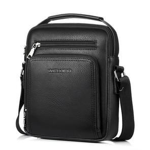 WEIXIER 18062 Multifunctional Men Business Handbag Crossbody Bag Single Shoulder Bag (Black)