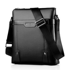 WEIXIER 18067 Men Leisure Style PU Leather Single Shoulder Bag (Black)