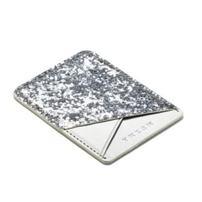 MUXMA white Sequin Leather Pocket Card Mini Mobile Phone Case 3M Plastic Credit Card Mobile Phone Back Stickers Card Package Card Sets