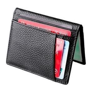 KB173 Ultrathin Litchi Texture Leather Card Holder Certificate Bag (Black)