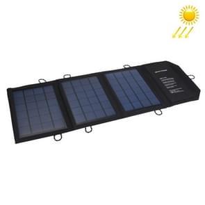 10.5W 2.1a max 2 poorten Output draagbare vouwen zonnepaneel Lader tas voor Samsung / HTC / Nokia / mobiele telefoons / overige apparaten