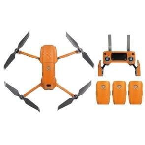 Sunnylife Carbon Fiber Waterproof All-surround 3D PVC Sticker Kit voor DJI Mavic 2 Pro / Zoom Drone Quadcopter(Oranje)