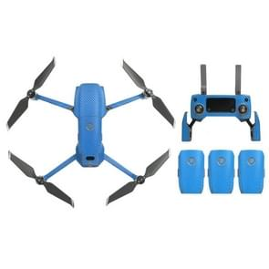 Sunnylife Carbon Fiber Waterproof All-surround 3D PVC Sticker Kit voor DJI Mavic 2 Pro / Zoom Drone Quadcopter(Blauw)