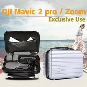 Shockproof Waterproof  Portable Case PC Hard Shell  Storage Bag for DJI Mavic 2 Pro / Zoom and Accessories(Silver)