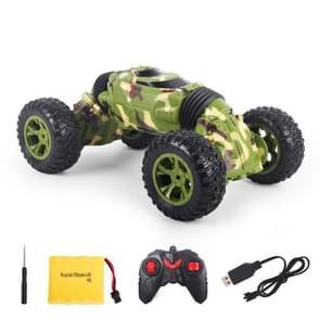 1086 oplaadbare 4 kanalen vervorming Stunt draaien auto Toy Car(Green)