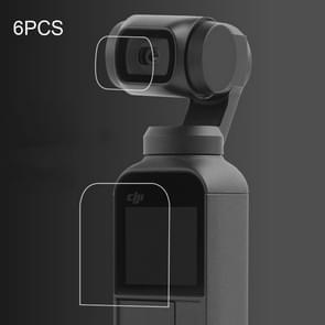 6 stuks HD Lens Protector + scherm Film voor DJI OSMO Pocket Gimbal