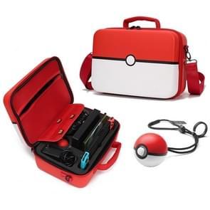 Multi-function Portable Slant Single Shoulder Storage Bag Suitcase Protective Box for Nintendo Switch (Red)