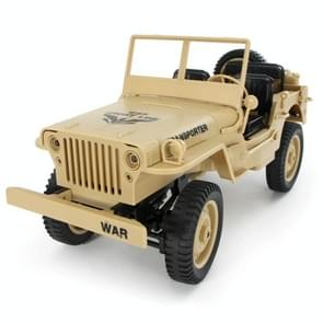 JJRC Q65 1:10 RC 2.4G Convertible Jeep Light Remote Control Four-Wheel Drive Military Off-road Truck Climbing Car Toys (Yellow)