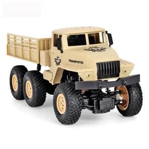 STEFFIE PUYVELDE/C 1:18 2.4 GHz 4 kanaal afstandsbediening Dongfeng 7 6-wielen Armor vrachtwagen voertuig speelgoed (geel)