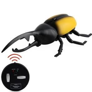 9996 Infrarood Sensor Afstandsbediening gesimuleerde Kever Creatieve Kinderen Elektrische Speelgoed Model (Geel)