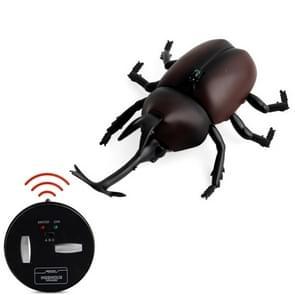 9996 Infrarood Sensor Afstandsbediening gesimuleerde Kever Creatieve Kinderen Elektrische Speelgoed Model (Bruin)