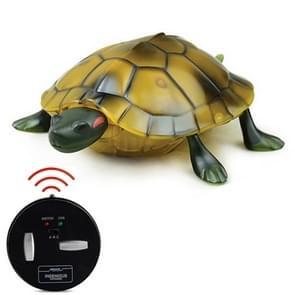 9993 Infrarood Sensor Afstandsbediening gesimuleerde schildpad Creatieve Kinderen Elektrische Lastige Speelgoed Model (Geel)