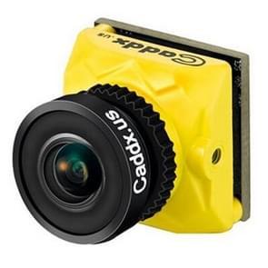 Caddx.us ratel Mini HD 2.1 mm lens FPV kleuren camera, NTSC/PAL veranderlijk (geel)