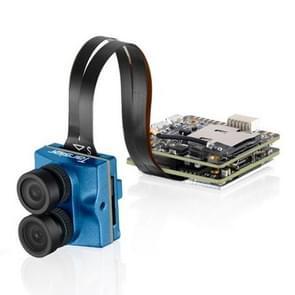 Caddx.us Tariser 4K mini 1200TVL F 2.8 12 Megapixel dual lens Dual FPV Color camera, NTSC/PAL veranderlijk (blauw)
