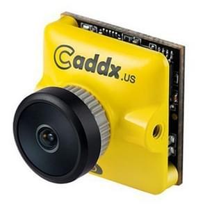Caddx.us Turbo micro F2 mini 1200TVL 2.1 mm lens FPV kleuren camera met 1/3 inch CMOS sensor, NTSC/PAL veranderlijk (geel)