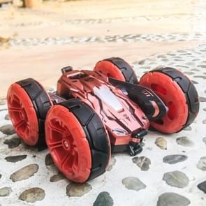 676 2.4 GHz 1:24 draadloze afstandsbediening 360 graden roterende stunt vervorming vierwielaandrijving kinderen speelgoed auto (roze)