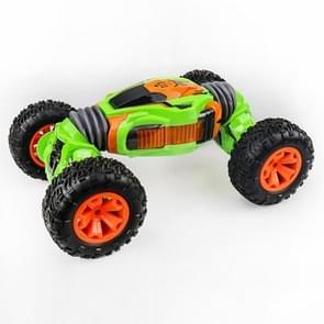 658E 1:12 2 4 GHz dubbelzijdig twisted Off-Road vierwielaandrijving klimmen afstandsbediening kinderen speelgoed auto  grootte: 40cm (groen)