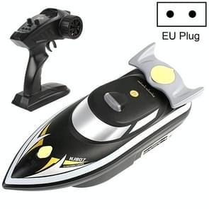 HongXunJie HJ807 2.4Ghz Outdoor Fishing Smart Remote Control Nesting Boat Nest Ship Bait Pull Net Boat, EU Plug (Black)