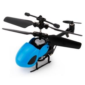 QINSONG QS5012 2CH Infrarood Mini RC Helicopter  grootte: 9 cm x 5 cm x 2 cm (blauw)