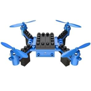 HELIWAY 902HS Assembling Blocks 6-Axis Quadcopter with Remote Control & 0.3MP WIFI Camera, Support  Headless Mode & Altitude Hold(Blue)