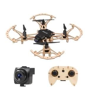 HELIWAY M2 DIY Building Wooden 4-Axis Quadcopter with Remote Control & 0.3MP Wifi Camera  Support  Headless Mode & Altitude Hold