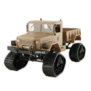 HD001B Four Wheel Drive Off-Road Climbing Load WIFI Control Real Walking Time Transmission Truck for Kids with LED Lights(Khaki)