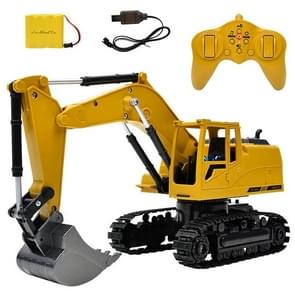 1:24 2.4G Wireless Remote Vontrol Excavator Eight Channel Alloy Excavator Children Charging Remote Control Car Toy